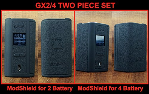 Price comparison product image ModShield for Smok GX2/4 220W 350W TC Silicone Case ByJojo Skin Sleeve GX 2/4 Cover Shield Wrap (Black GX2/4 SET)