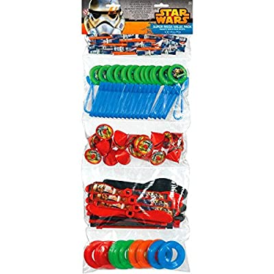 """Fun Filled Star Wars Classic Super Mega Mix Value Set Birthday Party Favour, Plastic , 24"""" x 9"""" , Pack of 100"""