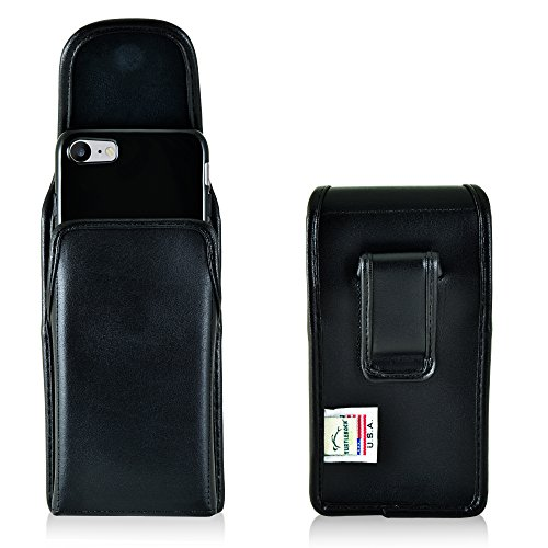 iPhone 8, iPhone 7 Holster, Made in USA Slim Fit Turtleback iPhone 8, iPhone 7 Belt Case with Executive Belt Clip, Vertical - Made from Premium Bonded - Executive Vertical Case