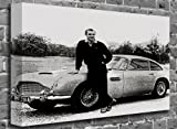 "Goldfinger Aston Martin Car Sean Connery Film Motion Picture Canvas Art Canvas Print Print Picture Size: (32"" x 20"")"
