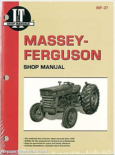 mf-27 massey-ferguson mf135 mf150 mf165 tractor manual: manufacturer:  amazon com: books