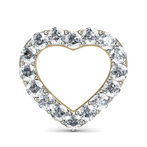 14K jaune Or 0,32CT TW White-diamond (IJ | SI) Boucles d'oreille à tige