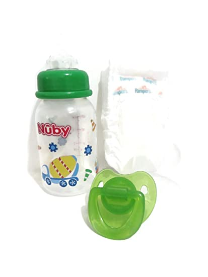 Amazon.com: Personalizado 5oz botella DIY botella + chupete ...