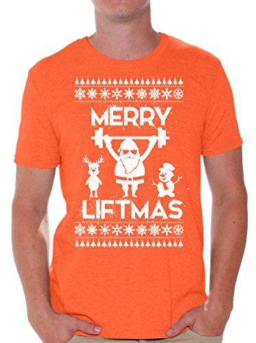We Will Rock You Costumes Ideas (Awkward Styles Merry Liftmas Shirt Lift Shirt Christmas Shirts for Men Ugly Xmas Orange M)