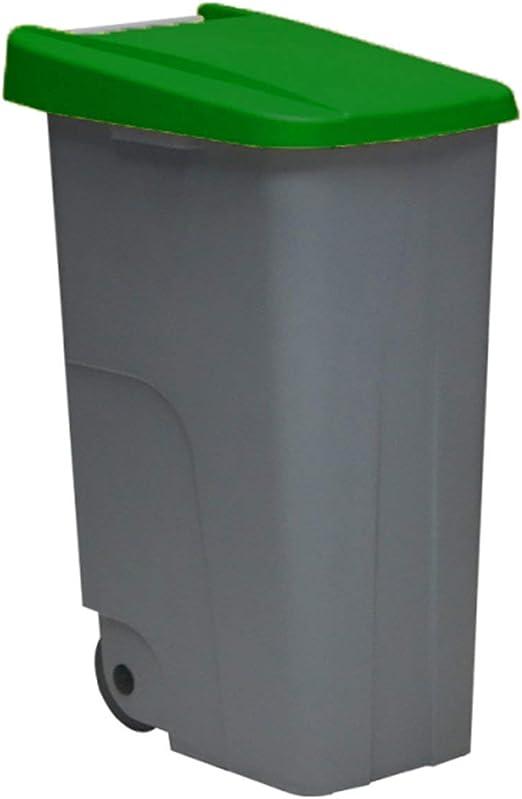 Jardin202 - Contenedor DENOX Eco 110 litros Tapa Verde: Amazon.es: Jardín