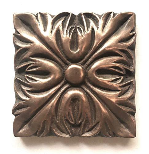 Bronze Metallic 4x4 Resin Decorative insert Accent piece Tile