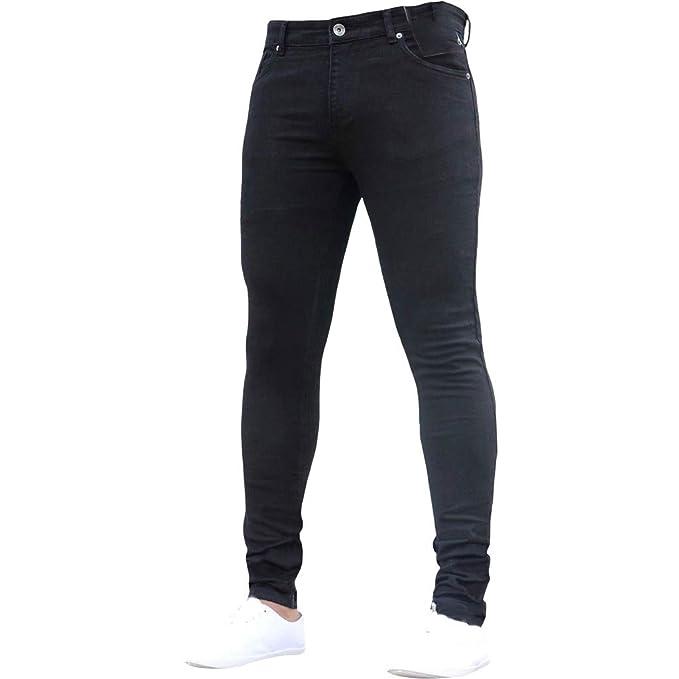 Amazon.com: Pantalones vaqueros ajustables para hombre ...