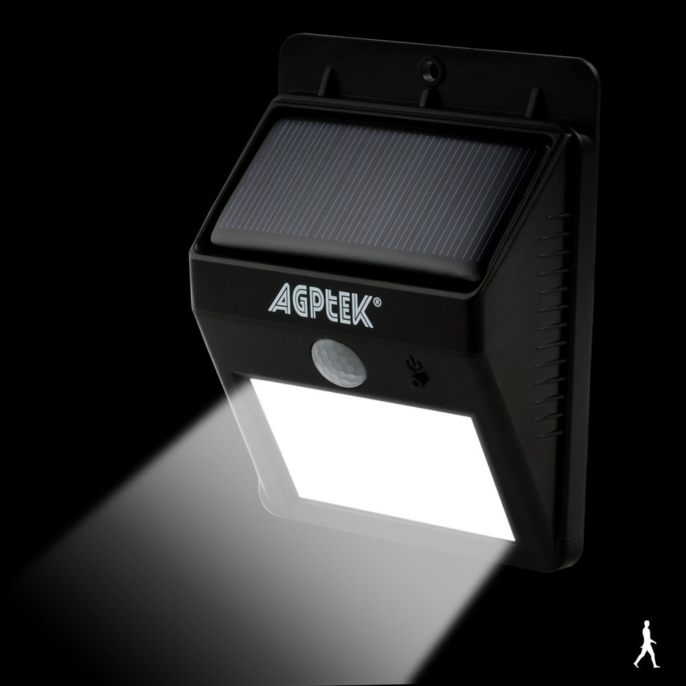 Amazon.com : Solar Lights, AGPtEK Solar Powered Wireless 6 LED Security Motion Sensor Light Wall/Garden Lamp / Motion Sensor-Detector Activated with Dusk to ...