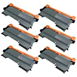 6 Pack Ink4work Compatible Brother TN450 (TN-450) Toner Cartridge For HL-2220, HL-2230, HL-2240, HL-2240D, HL-2270DW, HL-2280DW, MFC-7240, MFC-7360N, MFC-7460DN, MFC-7860DW, DCP-7060D, DCP-7065DN, Office Central