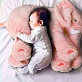"New Baby Kids Long Nose Elephant Doll Soft Plush Stuffed Toy Waist Throw Pillow Cute ""Pink 5060cm ""No.25"