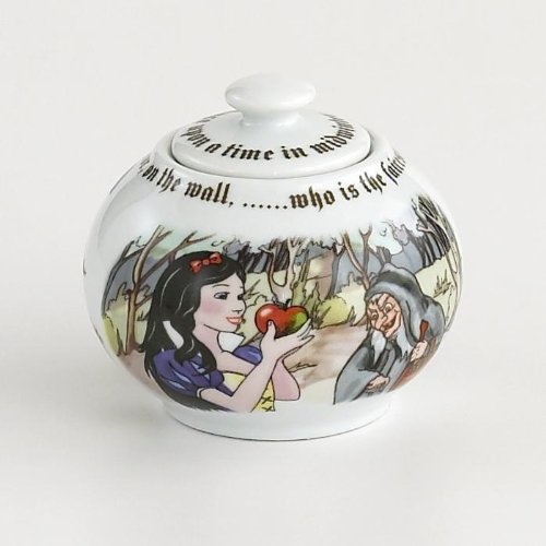 Paul Cardew Teapot - Snow White Covered Sugar Bowl 12oz By Paul Cardew