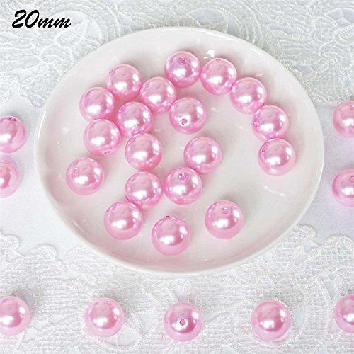 Efavormart 20MM BIG Wedding Faux Pearl Beads Garland Vase Filler Flower Centerpiece Table Decoration - Pink - 120 (Pink Bead Garland)