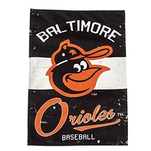 Oriole Garden (Rico Industries, Inc. Baltimore Orioles EG Vintage GARDEN Flag Premium 2-sided Retro Banner Baseball)