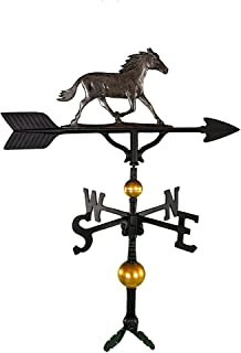 product image for Montague Metal Products 32-Inch Deluxe Weathervane with Swedish Iron Horse Ornament