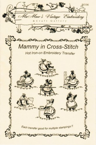 (Mammy in Cross-stitch Days-of-the-Week Hot Iron Embroidery Transfers)