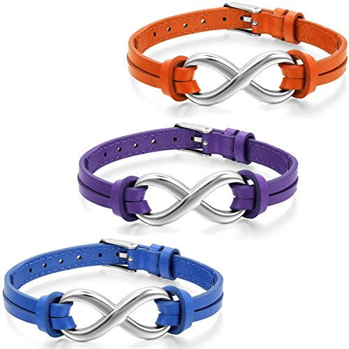Aroncent Infinity Bracelet Wristband Stainless