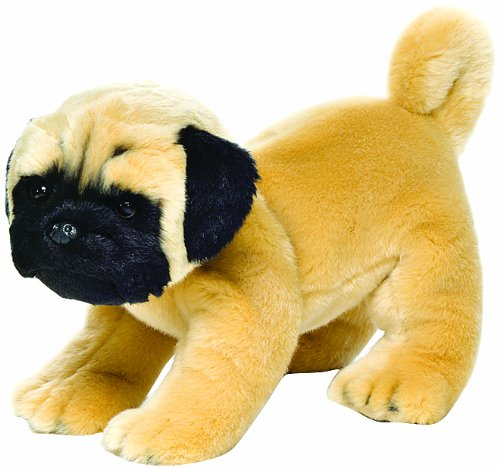 Pug Plush Dog Stuffed (Nat and Jules Standing Large Pug Dog Children's Plush Stuffed Animal Toy)