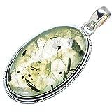 """Ana Silver Co Prehnite 925 Sterling Silver Pendant 2"""" PD614472"""