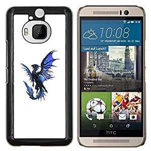 Stuss Case / Funda Carcasa protectora - Dragón Azul Negro Flying criatura mítica - HTC One M9Plus M9+ M9 Plus