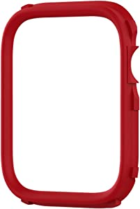 RhinoShield CrashGuard NX Extra Rim [ONLY] Compatible with Apple Watch SE [40mm] & Series 6/5 / 4 [40mm] & Series 3/2 / 1 [38mm] | Additional Accessory for RhinoShield Apple Watch Case - Red