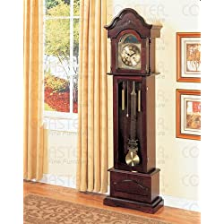 Light Cherry Grandfather Clock By Coaster Furniture