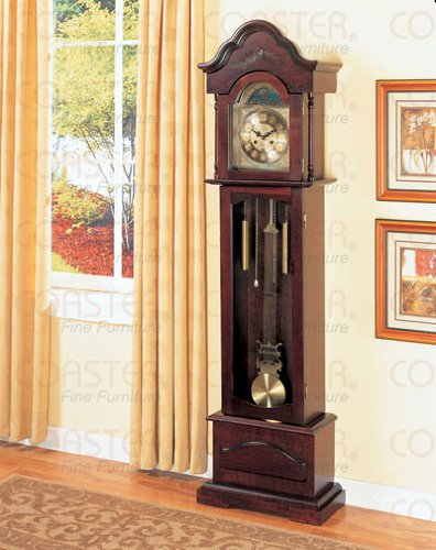 Light Cherry Grandfather Clock By Coaster Furniture (Pottery Barn Clock)