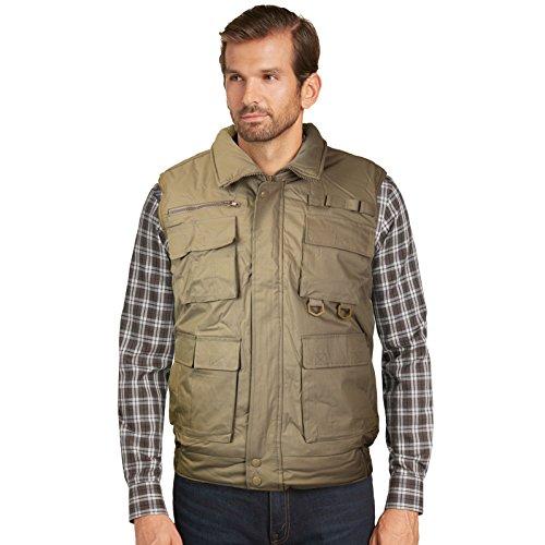 (vkwear Men's Multi Pocket Zip up Military Fishing Hunting Utility Tactical Vest (4XL, Khaki))