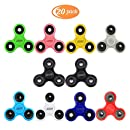 Fidget Spinner 20 Bulk Pack Prime EDC Hand Tri Spinner Fidget Toy for Adults Boys Girls Kids To Relieve Stress Anxiety