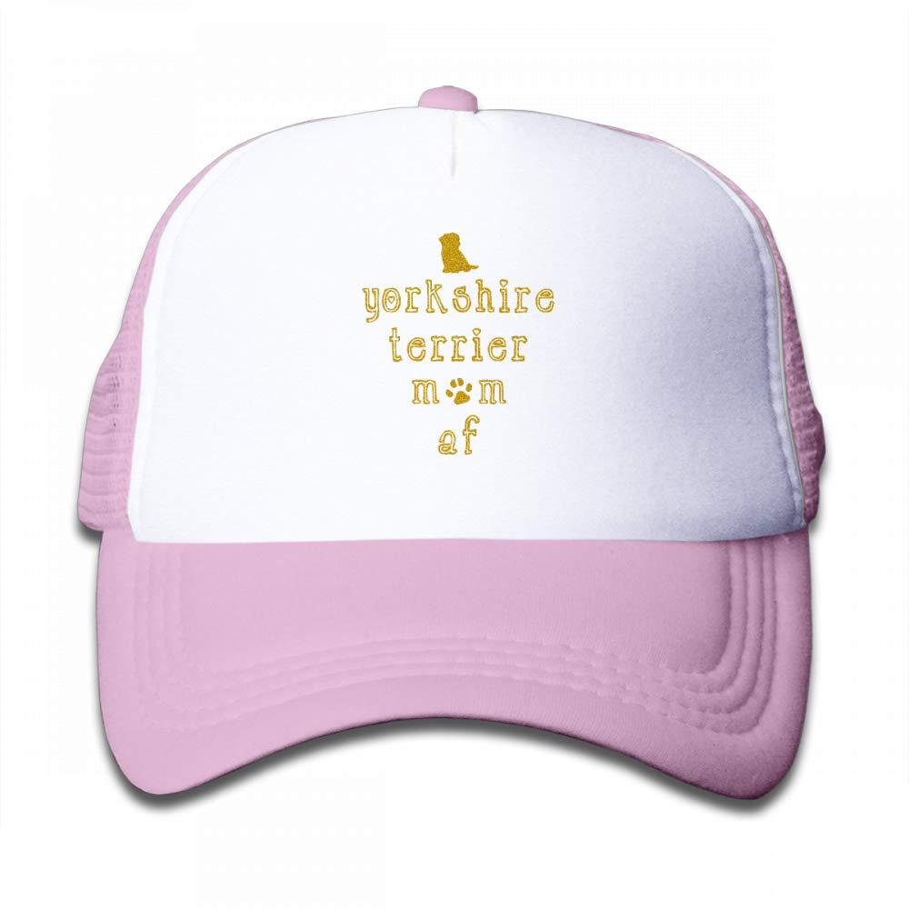NO4LRM Kid's Boys Girls Yorkshire Terrier Youth Mesh Baseball Cap Summer Adjustable Trucker Hat