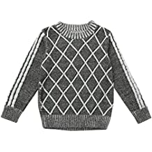 For 2-7 Years old,DIGOOD Winter Baby Boys Geometric Thicken Warm Sweater Knitting Outerwear Clothes