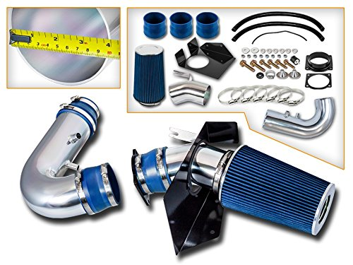 Cold Air Intake System with Heat Shield Kit + Filter Combo BLUE Compatible For 97-03 Compatible Ford F150/ Compatible Ford Expedition V8 4.6L/5.4L