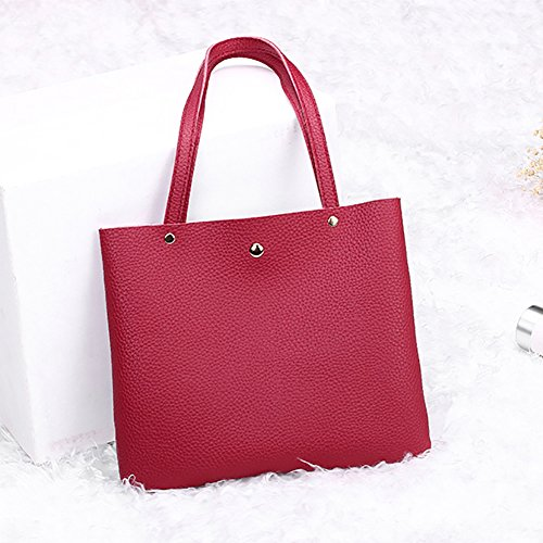 Bucket Color Gift Party Red Single Crossbody Shoulder Lady Bag Fashion Block a1pOO