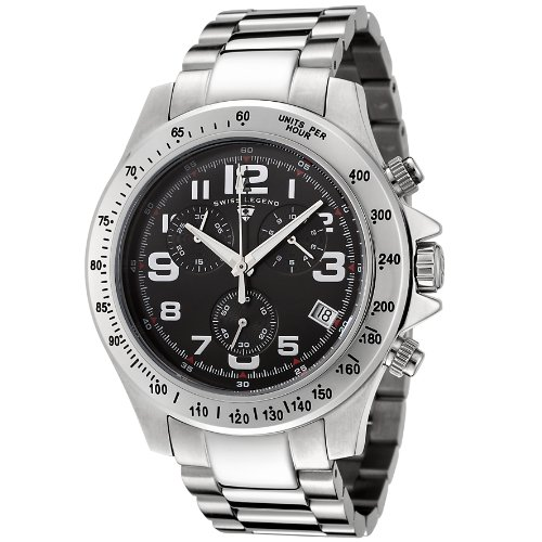 Swiss Legend Men's 50041-11 Eograph Collection Chronograph Black Dial Stainless Steel Watch (Chronograph Legend Swiss Mens)