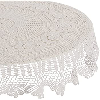 Amazon Com Saro Lifestyle 869 Crochet Tablecloths 45