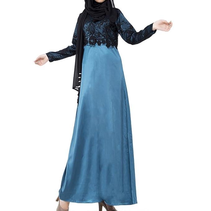 hibote vestimenta islámica larga para las mujeres abaya musulmán en Dubai damas turcas ropa azul /