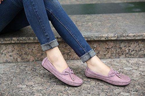 D2c Beauté Femmes Arc-en-slip Mocassin Mocassin Chaussures Violet