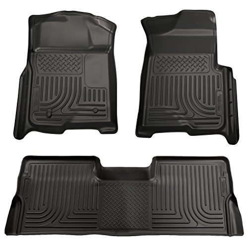 Husky Liners Front & 2nd Seat Floor Liners Fits 09-14 F150 (Carpeted Floor Liners)