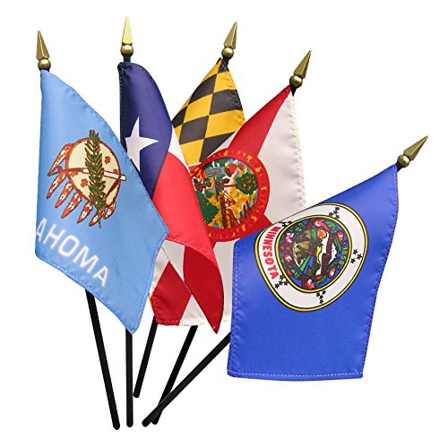 Valley Forge Complete Set of 4in x 6in State Stick Flags