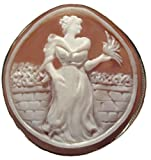 Summer Dream Cameo Broach Pendant Master Carved Sardonyx Shell Sterling Silver Italian