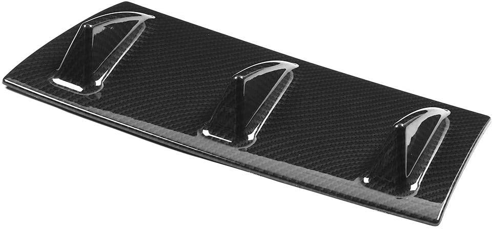 Qiilu Rear Bumper Lip Diffuser Car Rear Bumper Lip Diffuser ABS Chassis Spoiler 3-Fin Small Carbon Fibre Texture Black