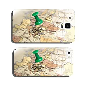 Location Romania. Green pin on the map. cell phone cover case iPhone5