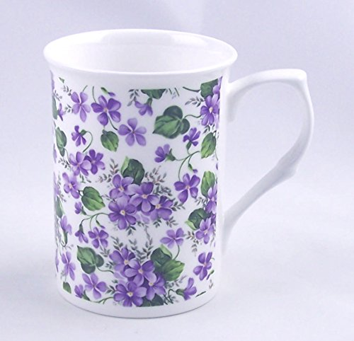 Fine English Bone China Mug - Wild Violet Chintz - Adderley Fine Bone China, England ()