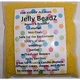 8oz -Almost 15,000 Jelly BeadZ Water Bead Gel - LEMON YELLOW- Heat Sealed Bag- Water Pearls Gel Beads- Wedding & Event Centerpieces
