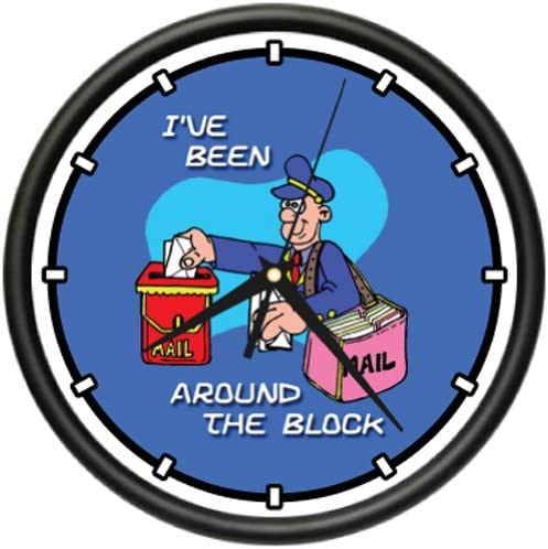 Mailman Wall Clock Postal Worker Mail Carrier Gift