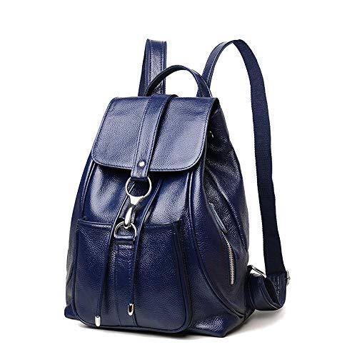 Selvaggia Della Coreana Femminile A Zaino Versione Black Blu In Moda Morbida Pelle Signore Borsa color Inverno Tracolla x8zS0pqqw