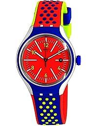 Swatch Men's Vermelho YES4016 Red Rubber Swiss Quartz Fashion Watch