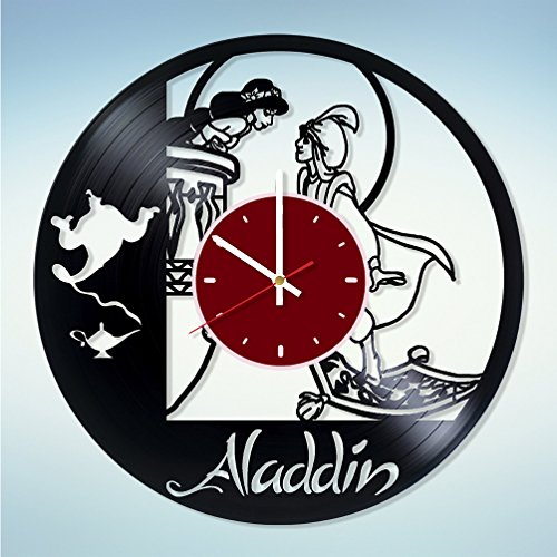 Disney Princess Jasmine Aladdin Vinyl Wall Clock Living Room Home Decor