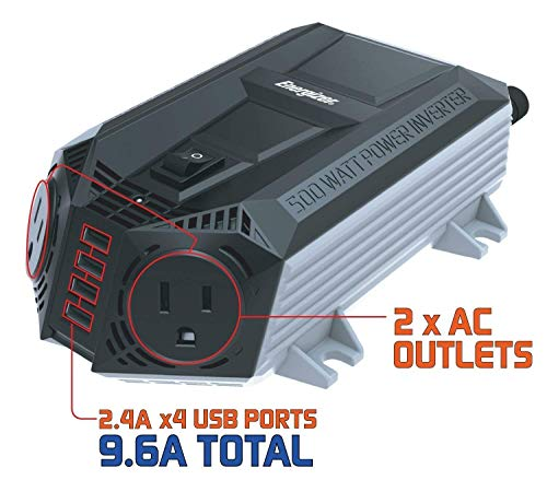ENERGIZER-500-Watt-Power-Inverter-12V-DC-to-AC-4-x-24A-USB-Charging-Ports-Total-96A