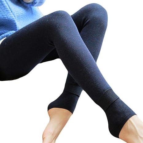 Damen Fleece Gefütterte Winter Leggings Warme Dicke
