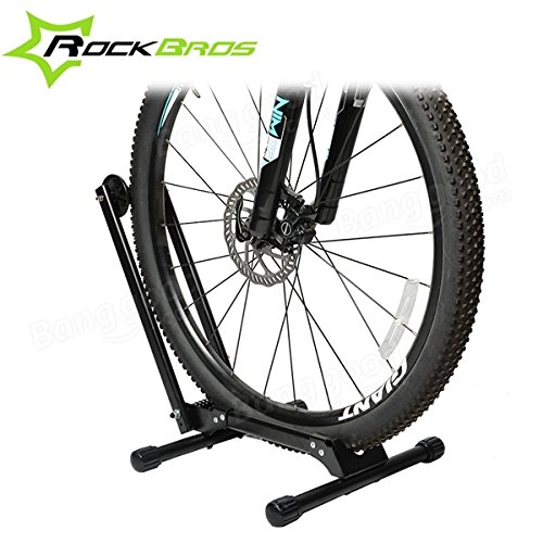 ROCKBROS Portable Double Pole Bicycle Rack Repair Support Frame MTB Rack Display